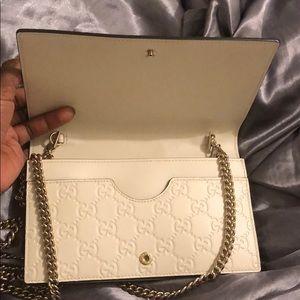 Gucci Bags - Gucci Guccissima Mini Chain Bag OFFWHITE